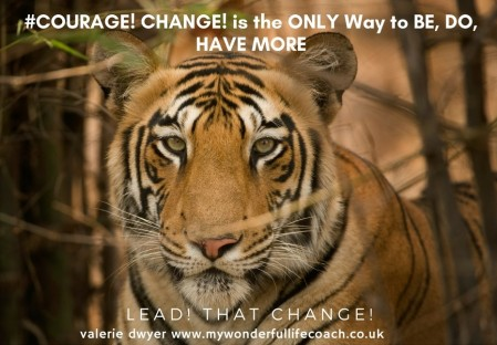 COURAGE CHANGE Tiger