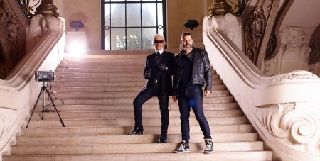Simon Procter and Karl Lagerfeld